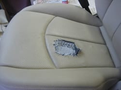 We repair and replace car seat upholstery